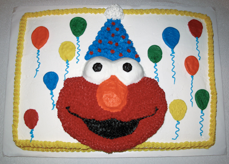 Elmo Birthday Cake on Elmo Birthday Cake    Creations By Skip