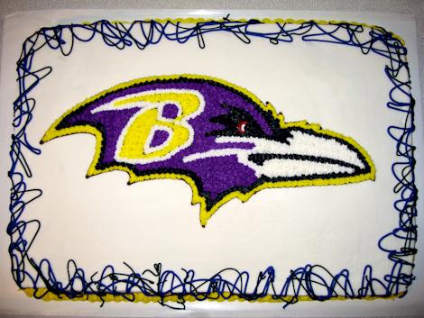 Baltimore Ravens Logo Cake