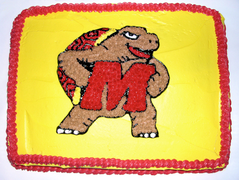 Maryland Terrapins Groom's Cake