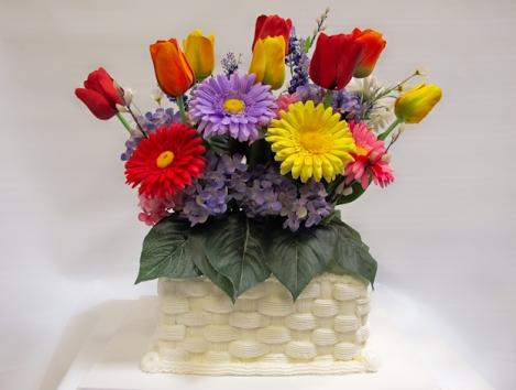 Easter Flowers Cake