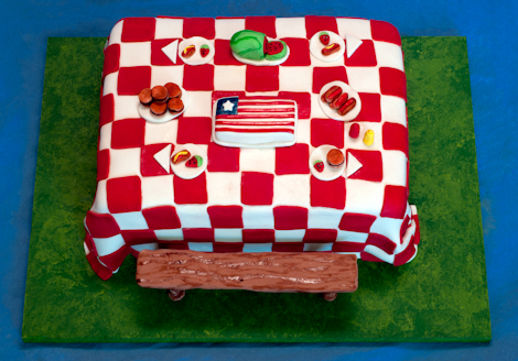 Picnic Table Cake 2010