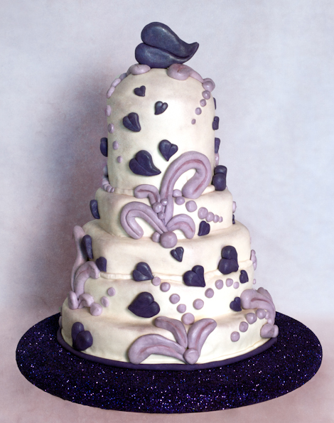 Purple Love Birthday Cake